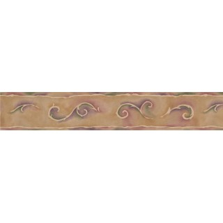 4.25 in x 15 ft Prepasted Wallpaper Borders - Abstract Wall Paper Border 106450 TS
