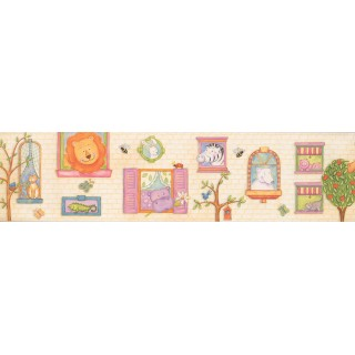 6 in x 15 ft Prepasted Wallpaper Borders - Kids Wall Paper Border 110002