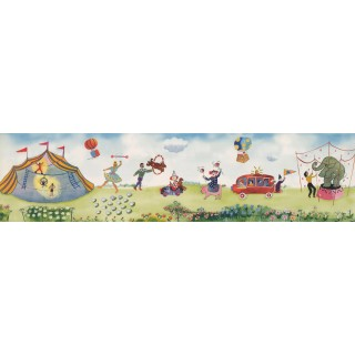 6 in x 15 ft Prepasted Wallpaper Borders - Kids Wall Paper Border 110033