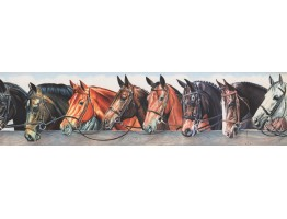 Prepasted Wallpaper Borders - Horse Wall Paper Border 110222