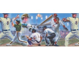 10 in x 15 ft Prepasted Wallpaper Borders - Baseball Wall Paper Border 110224