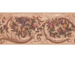Prepasted Wallpaper Borders - Fruits Wall Paper Border 1171 PZ