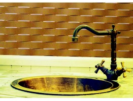 Backsplash Tiles  - Decorative Thermoplastic Tile 18 X 24 Lattice Brushed Nickel