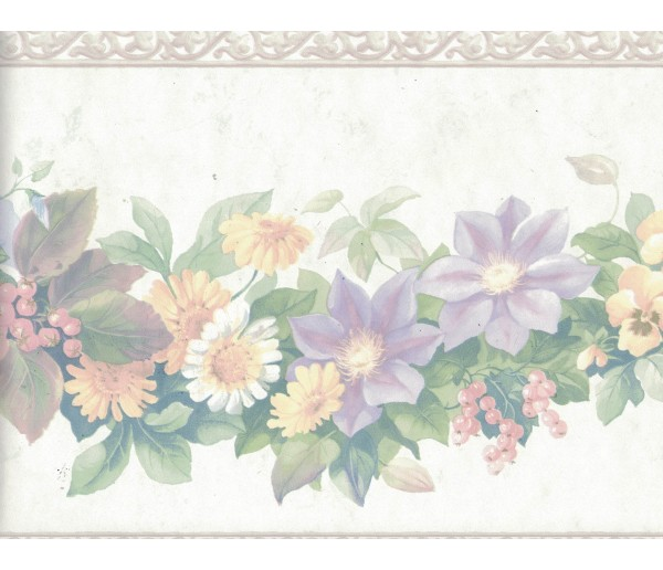 New Arrivals Flower Wallpaper Border 12167