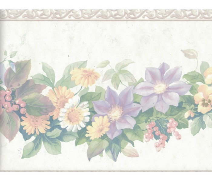 Floral Wallpaper Borders: Flower Wallpaper Border 12167