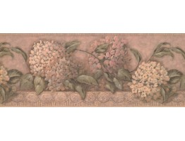 Prepasted Wallpaper Borders - Floral Wall Paper Border 1268 SY