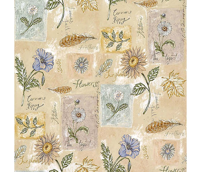 Floral Wallpaper: Kitchen and Bath Wallpaper 127-26568