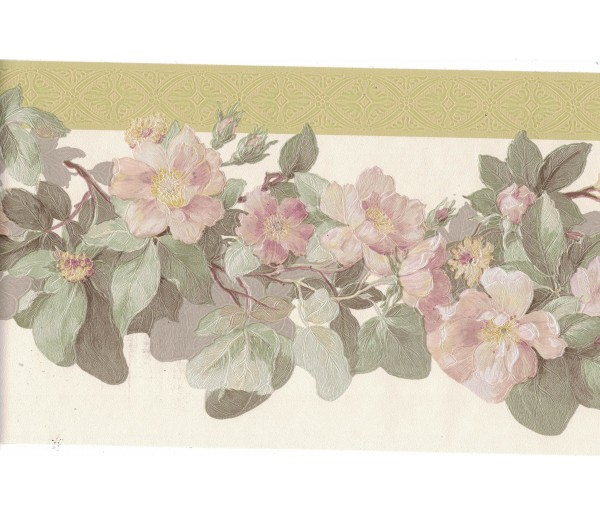 New Arrivals Flower Wallpaper Border 128B55907