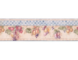 7 in x 15 ft Prepasted Wallpaper Borders - Fruits Wall Paper Border 1293 SY