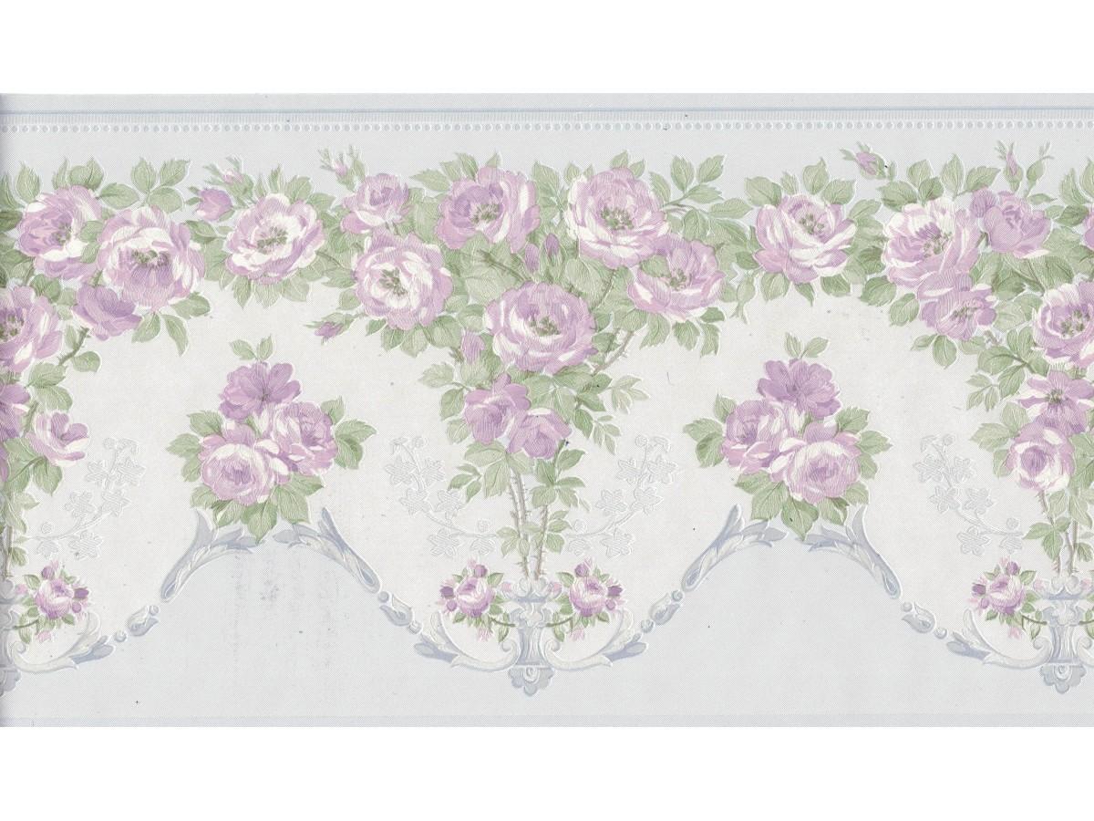 Flower Wallpaper Border 136b69574sb