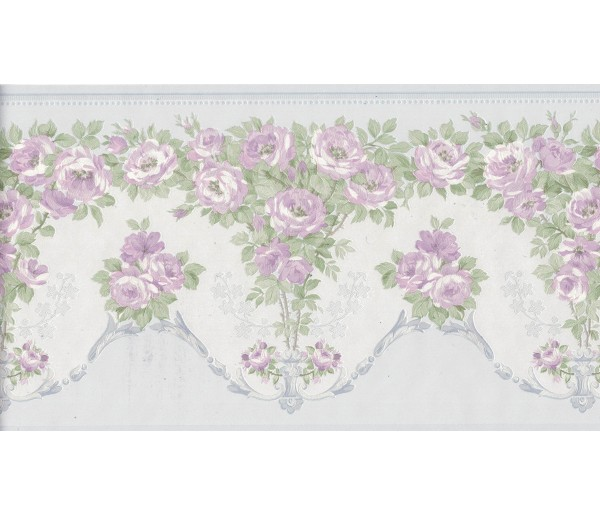 New Arrivals Flower Wallpaper Border 136B69574SB