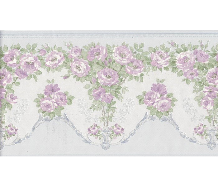 Floral Wallpaper Borders: Flower Wallpaper Border 136B69574SB