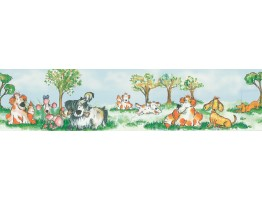 Prepasted Wallpaper Borders - Christina Knapp Dogs Wall Paper Border 143B88901
