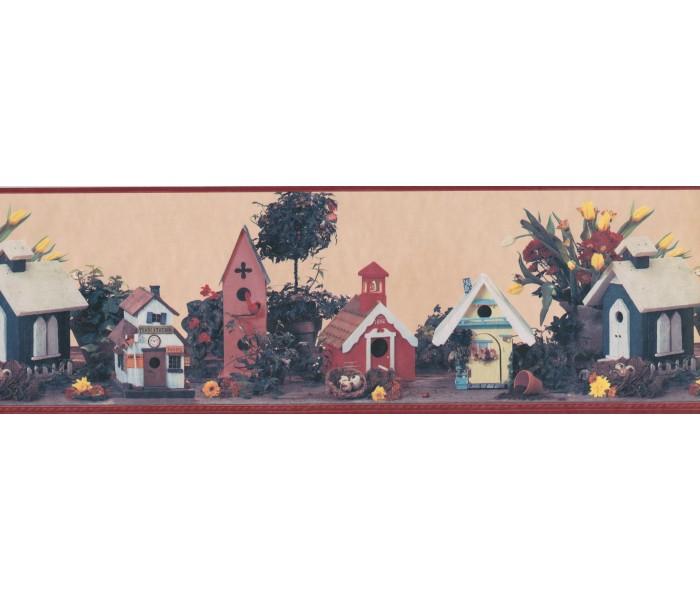 Bird Houses Wallpaper Borders: Birds House Wallpaper Border 144202