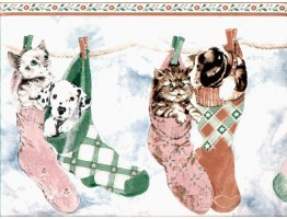 Cats and Dogs Wallpaper Border B160210
