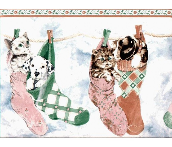 Laundry Wallpaper Borders: Cats and Dogs Wallpaper Border B160210