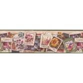 Garden Wallpaper Borders: Floral Wallpaper Border 1714 AEB