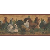 Roosters Roosters Wallpaper Border 192677 RD York Wallcoverings
