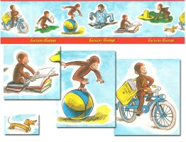 Curious George Adventures Wallpaper Border B2007kwl