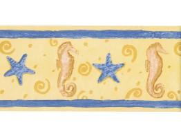 5 1/8 in x 15 ft Prepasted Wallpaper Borders - Sea World Wall Paper Border 207B74098