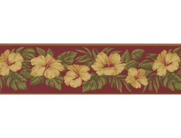 Prepasted Wallpaper Borders - Floral Wall Paper Border 2160 LH