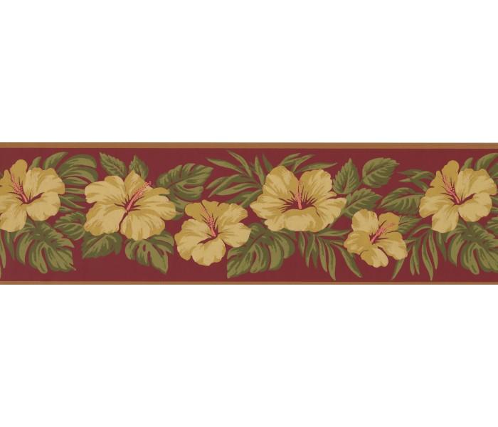 Garden Wallpaper Borders: Floral Wallpaper Border 2160 LH