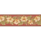 Garden Wallpaper Borders: Floral Wallpaper Border 2163 LH