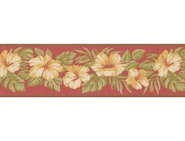 Prepasted Wallpaper Borders - Floral Wall Paper Border 2163 LH
