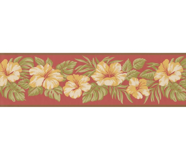 Garden Wallpaper Borders: Floral Wallpaper Border 2163 LH