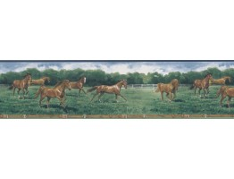 6 7/8 in x 15 ft Prepasted Wallpaper Borders - Horse Wall Paper Border 203B25575