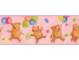 Prepasted Wallpaper Borders - Teddy Bears Wall Paper Border 2301 IF