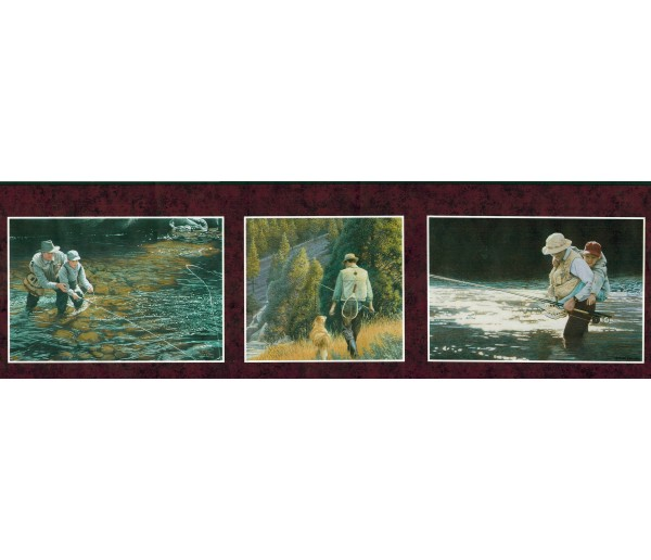 Fishing Fishing Wallpaper Border 241B63519 Fine Art Decor Ltd.