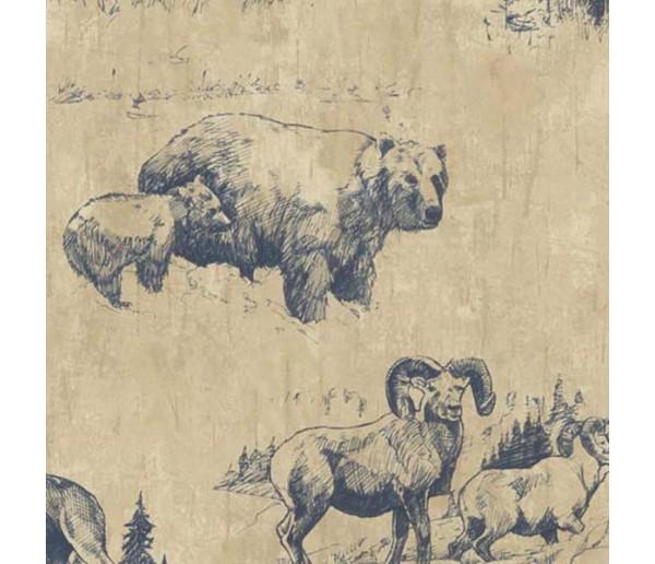 Animals Wallpaper: Western Roundup Wallpaper 58351