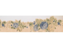 Prepasted Wallpaper Borders - Floral Wall Paper Border 2452 WPB