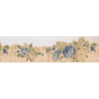 15 ft Prepasted Wallpaper Borders - Floral Wall Paper Border 2452 WPB
