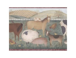 9 in x 15 ft Animals Wallppaer Border 245B57485