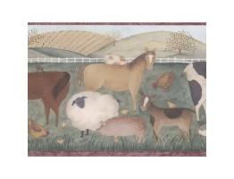 9 in x 15 ft Animals Wallppaer Border 245B57485