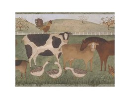 9 in x 15 ft Animals Wallppaer Border 245B57488
