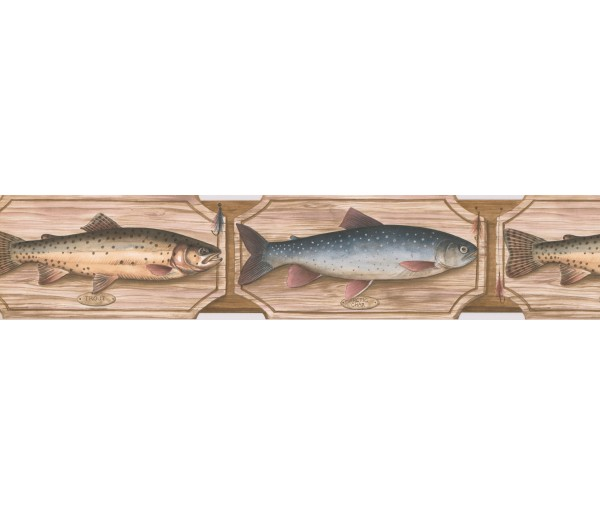 Clearance Fish Wallpaper Border 25005 SD DB