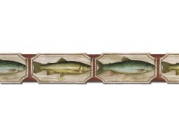 Prepasted Wallpaper Borders - Fish Wall Paper Border 25006 SD DB