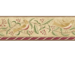 6 7/8 in x 15 ft Prepasted Wallpaper Borders - Diane Ulmer Perdersen Wall Paper Border 250B69208