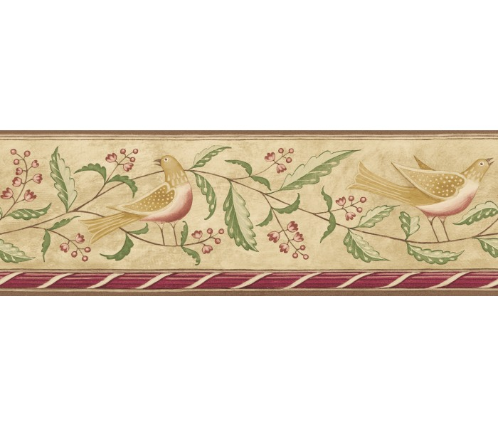 Birds  Wallpaper Borders: Diane Ulmer Perdersen Wallpaper Border 250B69208