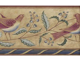 Prepasted Wallpaper Borders - Birds Wall Paper Border 250B69211