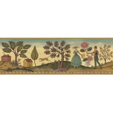 Country Wallpaper Borders: Diane Ulmer Perdersen Wallpaper Border 250B69233