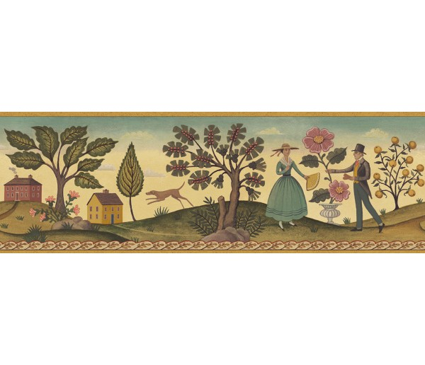 Country Wallpaper Borders: Diane Ulmer Perdersen Wallpaper Border 250B69233