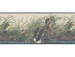 10 1/4 in x 15 ft Prepasted Wallpaper Borders - Ducks Wall Paper Border 230B33648