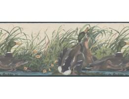 Prepasted Wallpaper Borders - Ducks Wall Paper Border 230B33648