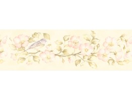 Prepasted Wallpaper Borders - Floral Wall Paper Border 253B59162