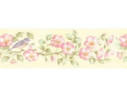 Prepasted Wallpaper Borders - Floral Wall Paper Border 253B59163