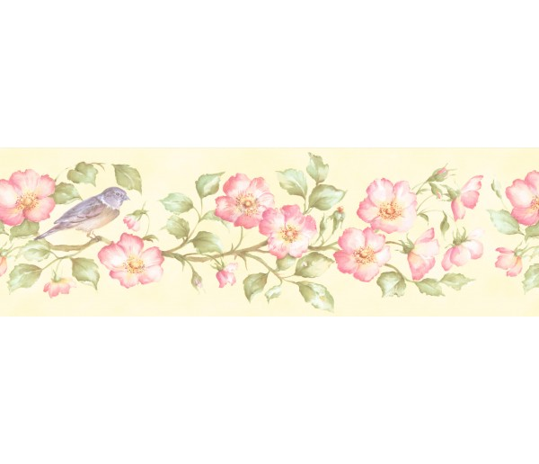 Garden Wallpaper Borders: Floral Wallpaper Border 253B59163